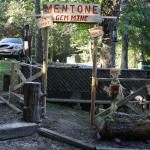 The Mentone Gem Mine is in Log Cabin Village in front of the Crossroads Trading Company. Buy a small bag of dirt and pan for precious gems.